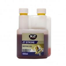 K2 2T STROKE OIL 500 ML CZERWONY